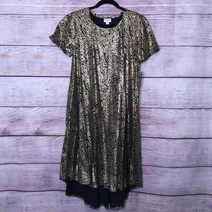 Showstopper! Small Black and Gold Lularoe Carly